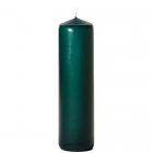 3x12 Hunter Green Pillar Candles Unscented