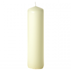 3x12 Ivory Pillar Candles Unscented