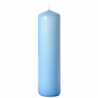 3x12 Light Blue Pillar Candles Unscented