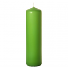 3x12 Lime Green Pillar Candles Unscented