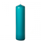 3x12 Mediterranean Blue Pillar Candles Unscented