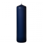 3x11 Navy Pillar Candles Unscented