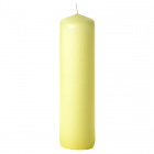 3x12 Pale Yellow Pillar Candles Unscented