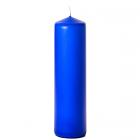3x12 Royal Blue Pillar Candles Unscented