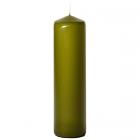3x12 Sage Pillar Candles Unscented