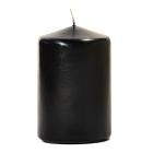 3x4 Black Pillar Candles Unscented