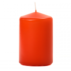 3x4 Burnt Orange Pillar Candles Unscented