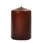 3x4 Brown Pillar Candles Unscented