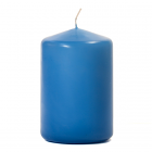 3x4 Colonial Blue Pillar Candles Unscented