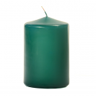 3x4 Forest Green Pillar Candles Unscented