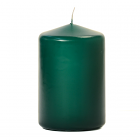 3x4 Hunter Green Pillar Candles Unscented