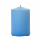 3x4 Light Blue Pillar Candles Unscented
