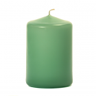3x4 Mint Green Pillar Candles Unscented