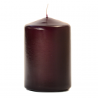 3x4 Plum Pillar Candles Unscented