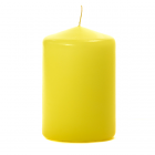 3x4 Yellow Pillar Candles Unscented