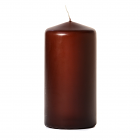 3x6 Brown Pillar Candles Unscented