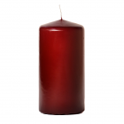 3x6 Burgundy Pillar Candles Unscented