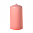 3x6 Pink Pillar Candles Unscented