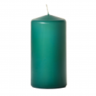 3x6 Forest Green Pillar Candles Unscented
