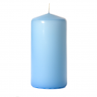 3x6 Light Blue Pillar Candles Unscented