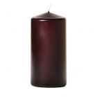 3x6 Plum Pillar Candles Unscented