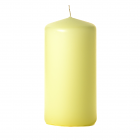 3x6 Pale Yellow Pillar Candles Unscented
