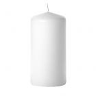 3x6 White Pillar Candles Unscented