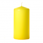 3x6 Yellow Pillar Candles Unscented