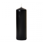 3x9 Black Pillar Candles Unscented