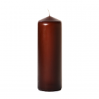 3x9 Brown Pillar Candles Unscented
