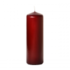 3x9 Burgundy Pillar Candles Unscented