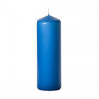 3x9 Colonial Blue Pillar Candles Unscented