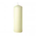 3x9 Ivory Pillar Candles Unscented