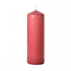 3x9 Mauve Pillar Candles Unscented