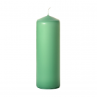 3x9 Mint Green Pillar Candles Unscented