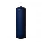 3x9 Navy Pillar Candles Unscented