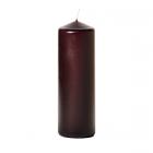 3x9 Plum Pillar Candles Unscented