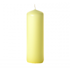 3x9 Pale Yellow Pillar Candles Unscented