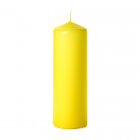 3x9 Yellow Pillar Candles Unscented