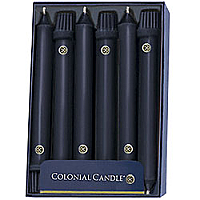 Black Taper Candle Classic 8 Inch