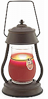 Jar Warmer Lantern Rustic Brown