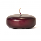 Plum Floating Candles Large Disk