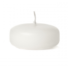 White Floating Candles Large Disk