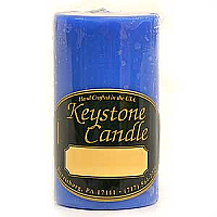 Blue Christmas 2x3 Pillar Candles
