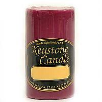 Raspberry Cream 2x3 Pillar Candles