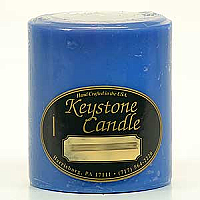 Blue Christmas 3x3 Pillar Candles