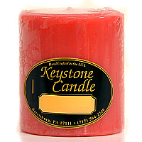 Juicy Peach 3x3 Pillar Candles