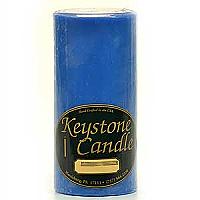 Blue Christmas 3x6 Pillar Candles
