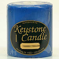 Blue Christmas 4x4 Pillar Candles