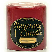 Raspberry Cream 4x4 Pillar Candles